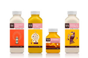 These Illustrated Labels Depict the Benefits of Each Kaffe Juice