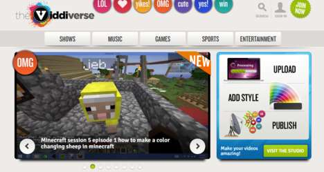 Entertaining Kid Networks - 'Viddiverse' is a Network That Provides Videos for Kids