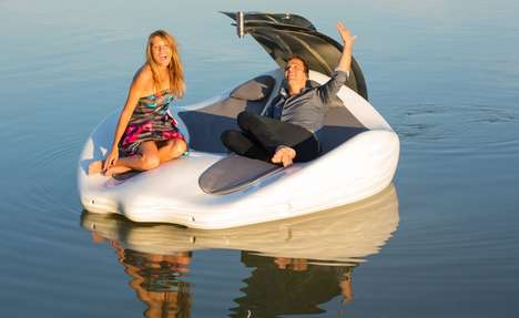 Luxurious Electric Watercrafts - The 'Chilli Island' is a Combination Electric Boat and Lounger