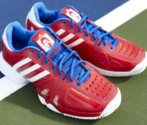 Celebrity Portrait Sneakers - These Adidas Shoes Sport the Face of US Open Tennis Pro Novak Djokovic