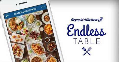 Social Media Cookbooks - The Reynolds Instagram Account Features Food Images that Link to Recipes