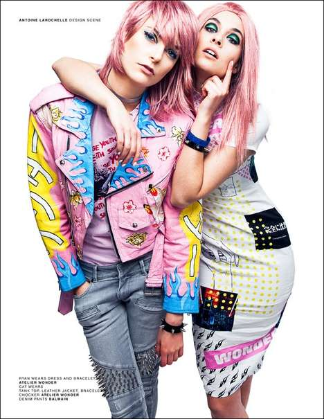 Carefree Rocker Editorials - Design Scene's 'Spirit of Now' Image Series Highlights Bold Styles