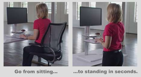 Ergonomic Work Stations - The 'Uprite Ergo Sit2Stand Workstation' Prevents Chronic Pains