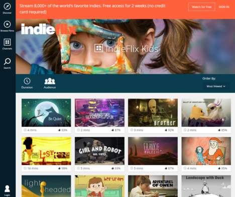 Child Cinema Platforms - IndieFlix for Kids Gears Its Content Towards Viewers Age 12 and Under