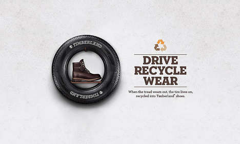 Recycled Tire Footwear - Timberland and Omni United are Creating Recycled Shoes Out of Used Tires