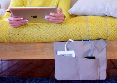 Bedside Charging Storage - The 'Z-Charge' is a Charging Pouch for Multiple Devices