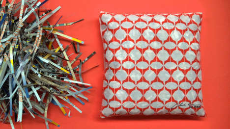 Upcycled Catalog Cushions - The IKEA Kuss Cushion is Made Out of Recycled Copies of the Ikea Catalog