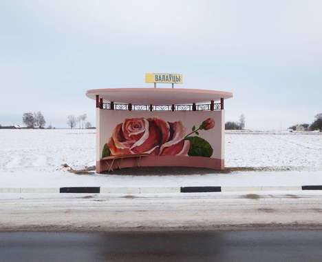 Floral Bus Shelter Photography - These Images by Alexandra Soldatova Feature Hand-Painted Bus Stops