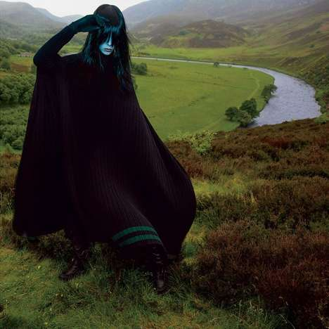 Scenic Witch Editorials - T Magazine's 'Fashion's Dark Side' Story Highlights Edgy Couture