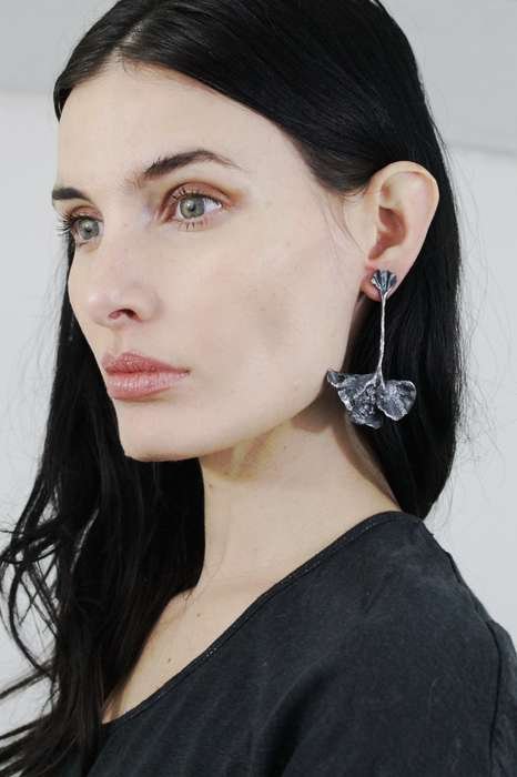 Gothic Foliage Accessories - Sisters of the Black Moon's Fan Earrings are Inspired by Plant Life