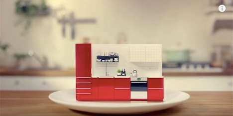 Miniature Modular Kitchens - This Ad Shows How Easy It is to Create a Custom IKEA Modular Kitchen