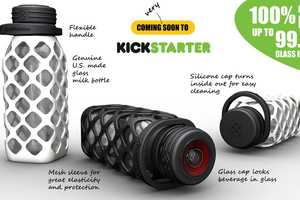 This Mesh Bottle is Made From a Recycled Milk Jug