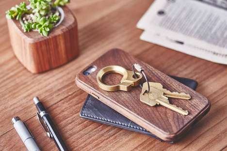 Stylish Metal Keyrings - This Bottle Opener Keyring Comes In Elegant Brushed Metal Hues