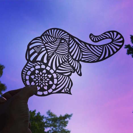Intricate Animal Stencils - These Delicate Animal Silhouettes are Carefully Cut From One Piece Paper