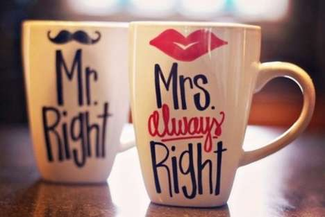 10 Charming Couple's Cups - From Clever Couple Coffee Mugs to Quirky Coupled Ceramic Mugs