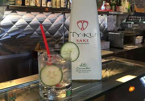 Cucumber-Flavored Sakes - The TY KU Sake is Now Infused for a More Contemporary Flavor