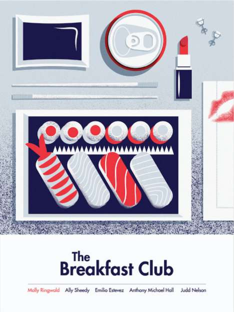 Visualized Cult Film Posters - These Breakfast Club Posters Connect Characters to Products