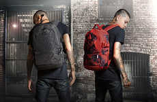Spiky Streetwear Knapsacks - The Sprayground Spython Backpack Collection Sports Urban Cool Designs