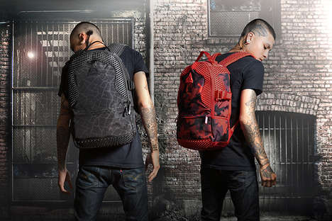 Spiky Streetwear Knapsacks - The Sprayground Spython Backpack Collection Sports Urban Cool Designs