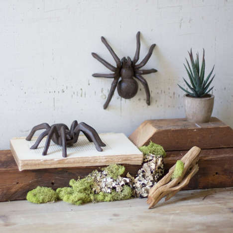 Spooky Statuesque Spiders - The Cast Iron Tarantula is Essential for Those Who Love Halloween