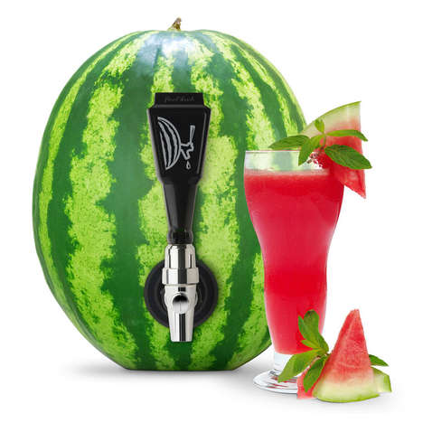 Fruity Beverage Taps - The Watermelon Keg Tap Transforms Melons into Punch Bowls with a Twist