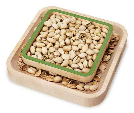 Receptacle Serving Plates - The Pistachio Pedestal Ensures Guests Have a Place for the Shells