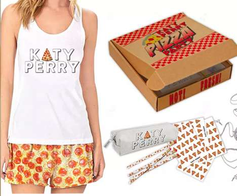 Songstress Pizza Fashions - Katy Perry Releases a Line of Merchandise Inspired by Gooey Pizza