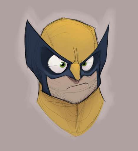 Disney-Inspired Superheros - These Illustrations Imagine Marvel's X-Men as Disney Characters