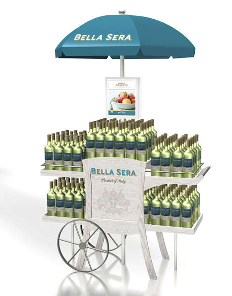 Patio-Themed Wine Carts - This Bella Sera Wine Display
