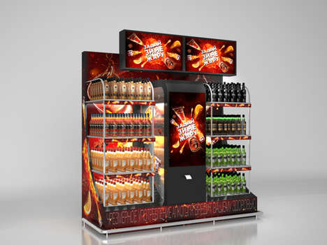 Interstellar Rum Displays - This Space-Inspired Point-of-Sale Display Showcases Bacardi Rums