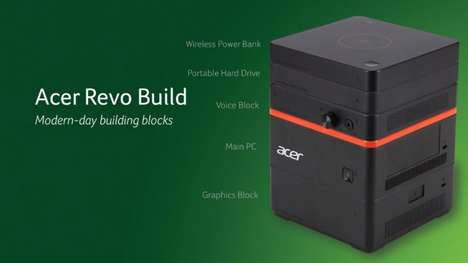 Modular Desktop Computers - The Acer Revo Build is a Customizable Modular Mini PC
