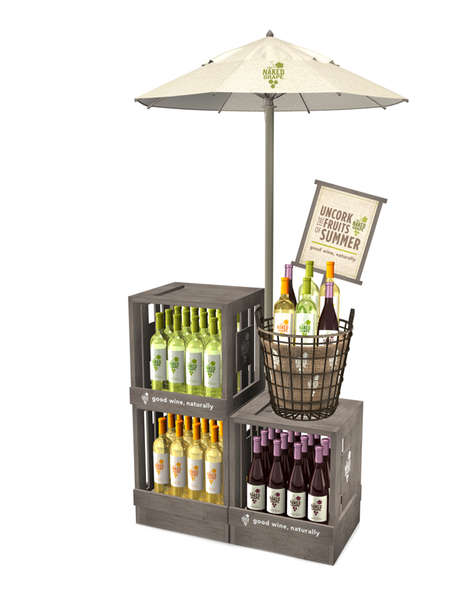 Summer-Ready Wine Merchandising - This Naked Grape Wine Display is Inspired by Backyard Decor