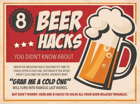 Illustrated Beer Guides - This Infographic Features Handy Serving and Drinking Tips