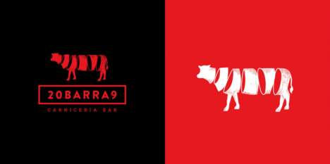 Spiral Beef-Branded Bars - The 20BARRA9 Bar Boasts Its Meat-Themed Brand with an Spiral Cow Logo