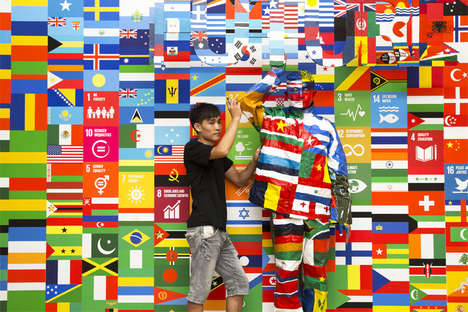 International Camouflage Art - This New Liu Bolin Piece Features the Flags of the 193 United Nations