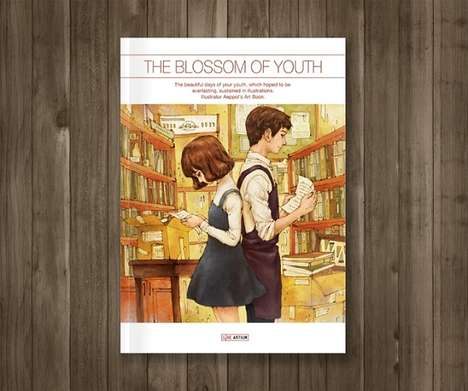Ethereal Youth Illustrations - Illustrator 'Aeppol' Created Images to Depict 'The Blossom of Youth'