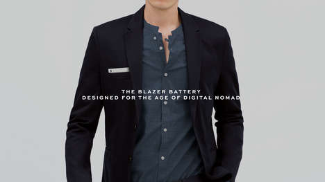 Battery-Powered Blazers - This Smart Blazer is Stylish and High-Tech with a Front Pocket Charger