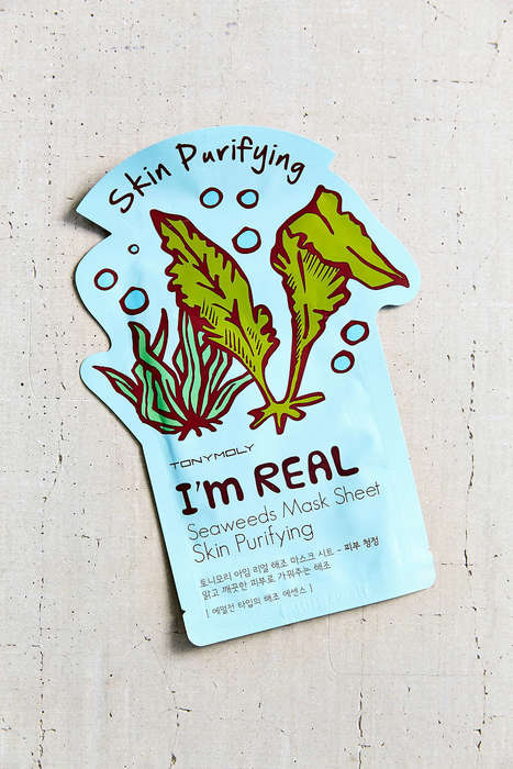 Purifying Sheet Masks - This Seaweed Face Mask Detoxifies Skin from Air-Borne Bacteria