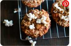 Popcorn-Infused Oatmeal Cookies - These Oatmeal Raisin Biscuits are Topped With Salty Popcorn Pieces