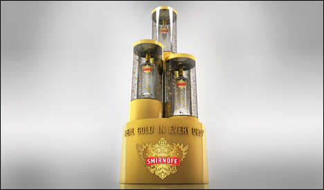 Podium-Inspired Vodka Displays - This Vodka Display for Smirnoff is a Clever Nod to Olympic Gold