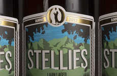 Farmland Beer Labels - The Stellies Beer Label Features an Illustration of the Joostenberg Farm
