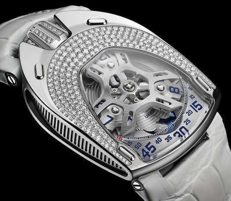 Transparent Women's Watches - The First Ever Women's Urwerk Watch Features a See-Through Face
