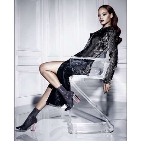Eye-Catching Transparent Dresses - This Rihanna See-Through Mesh Dress is Elegant and Provocative