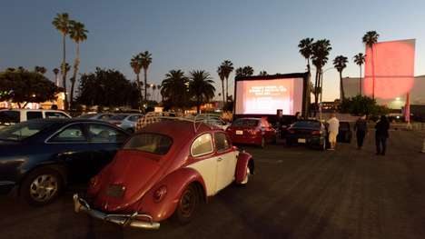 Traveling Pop-Up Theaters - The Adult Swim Pop-Up Drive-In Theater is Touring Across the Country