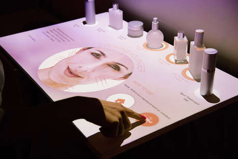 Multi-Sensory Cosmetic Displays - PERCH Interactive's Station Simplifies the Shopping Experience
