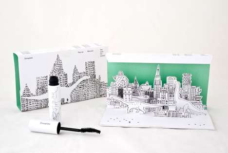 Pop-Up Mascara Packaging - Dinoplatz' Mascara Packaging Includes an Imaginative Diorama