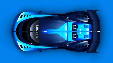 Luxury Racing Supercars - The Bugatti Vision Gran Turismo Looks Like a Car from the Future