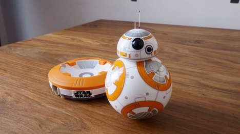 Sci-Fi Robotic Toys - Star Wars' 'BB-8' Droid Toy Can Drive, Patrol and Play Holographic Messages