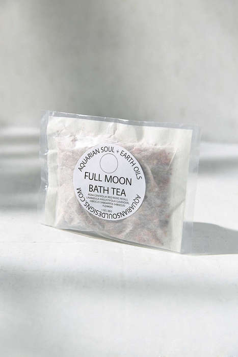 Tea-Inspired Bath Soaks - Aquarian Soul's Relaxing Bath Products are Packaged Like Bags of Tea
