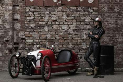 Luxe Nostalgic Velomobiles - The 'Picar' is a Combination Recumbent Trike and Pedal Car
